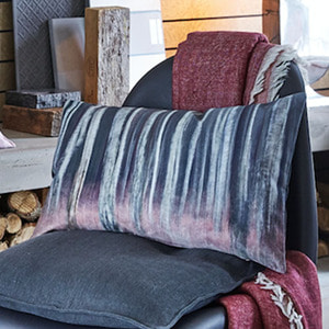 < 25%off특가 >LOG Cushion Cover- Grey & Merlot