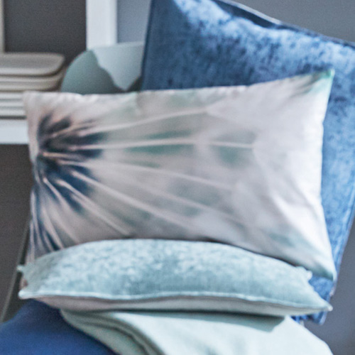 Dandy cushion cover - blau & ciel (30x50cm)