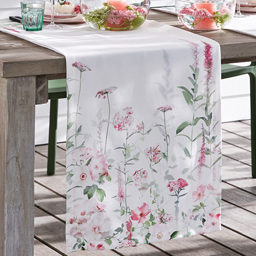 Amina table runner - pink & rosé (50x170cm)