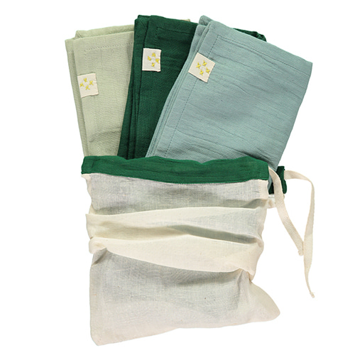 Multi Pack towel - mint & light teal & forest (56x56cm)