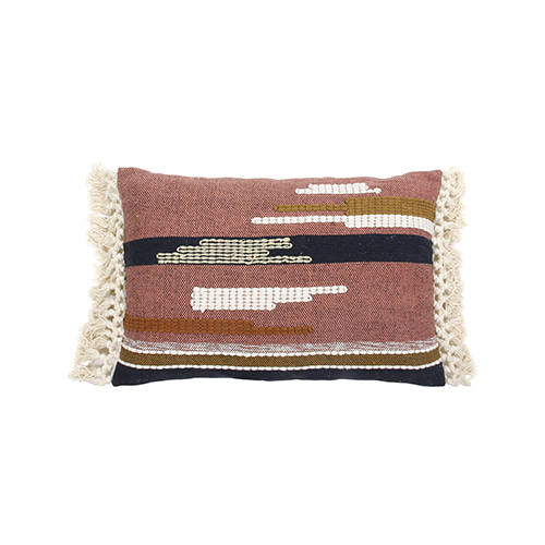 Aztec with tassels cushion cover - multi color (40x60cm)