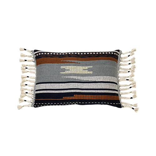 Aztec with tassels cushion cover - multi color (50x70cm) 속솜포함 제품