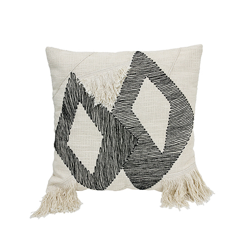 Triangle cushion cover - black & white (50x50cm)