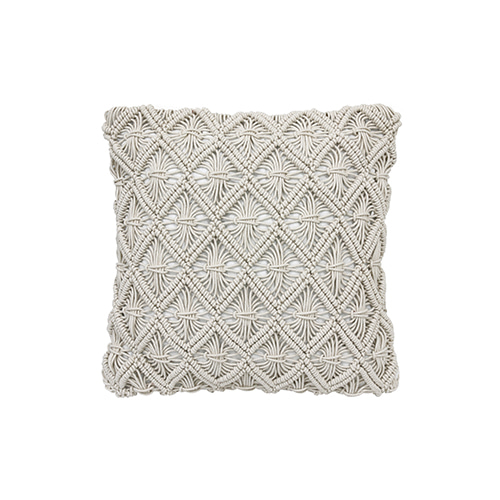 Macramé cushion cover - natural (45x45cm)