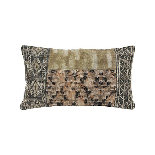 Patched cushion cover - multi color (40x70cm) 속솜포함 제품