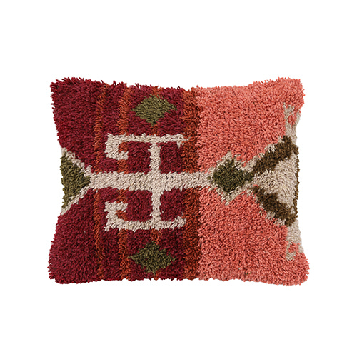 Pile cushion cover - coral (50x60cm) 속솜포함 제품