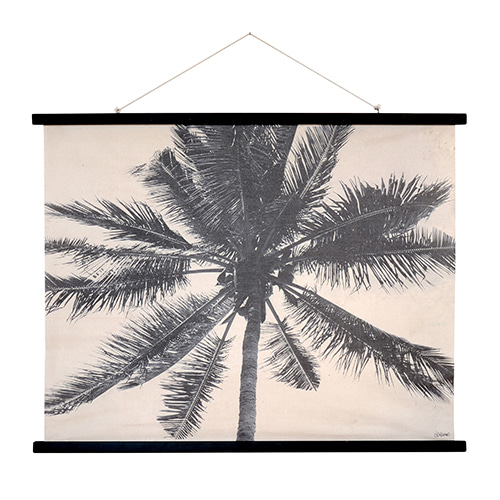 Palms wall deco - printed (105x85cm)