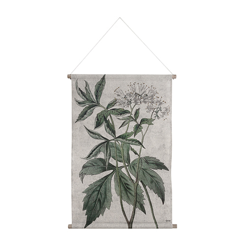 Botanical wall deco - green (85x59.5x2.5cm)