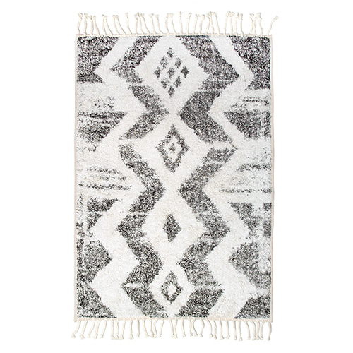 Zigzag bath rug - black & white (75x110cm)