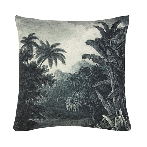 Jungle cushion cover - black & white (45x45cm) 속솜포함 제품