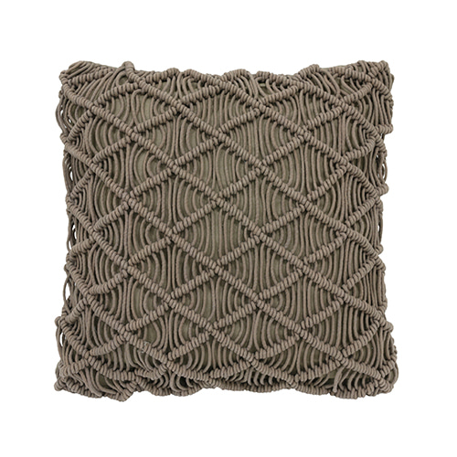 Macramé cushion cover - green (50x50cm)
