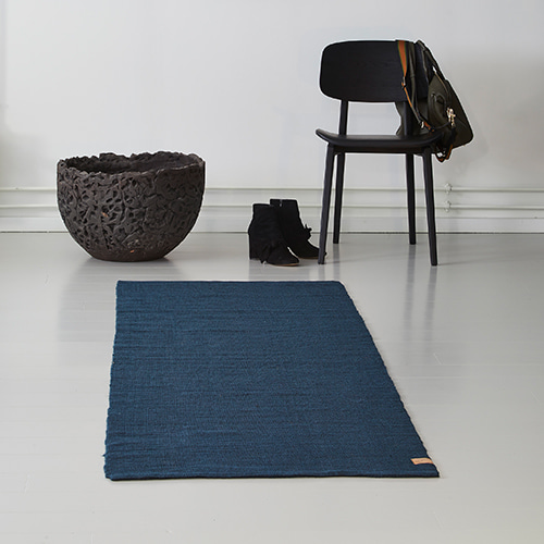 Ribbon Jute Rug - Dark Blue